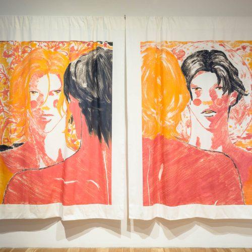 "08-Ron Siu.Purest Mood, 2020. Reactive dye print on fabric, 87"" x 120"""