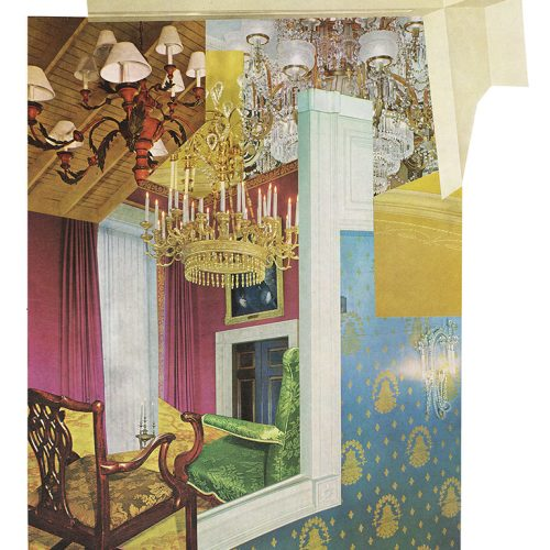Aimée Henny Brown /  Urban Fortress Interiors 01: Where Light Will Never Cease / 2020                       / analogue collage