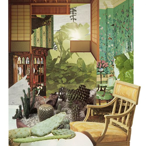 Aimée Henny Brown /  Urban Fortress Interiors 04: Nocturnal House Cycles / 2020 /  analogue collage