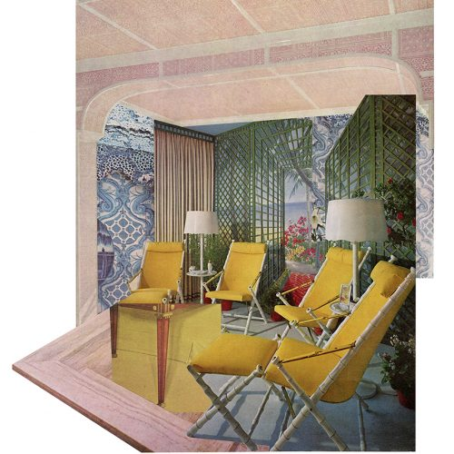 Aimée Henny Brown /  Urban Fortress Interiors 07: Where Time Sat Still / 2020 /  analogue collage