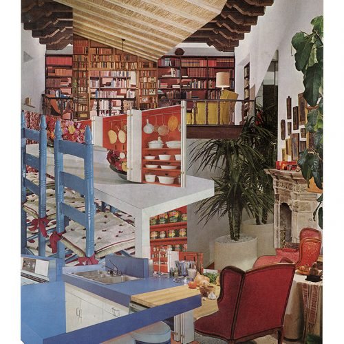 Aimée Henny Brown /  Urban Fortress Interiors 08: Into the Larder / 2020 /  analogue collage