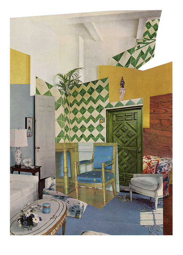 Aimée Henny Brown / Urban Fortress Interiors 02: There is Nothing There / 2020 / analogue collage