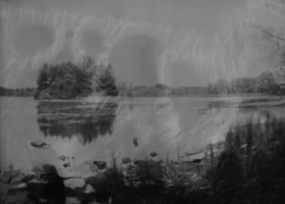 Island, Pinhole Photograph on paper