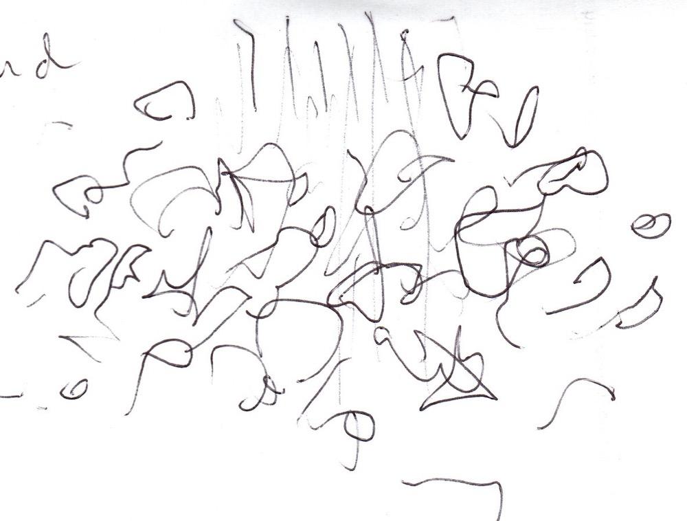 bird cloud sketch of sculptures
