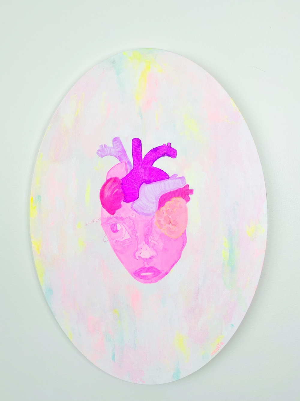 Montie, Anatomical Polly Pocket, acrylic on canvas