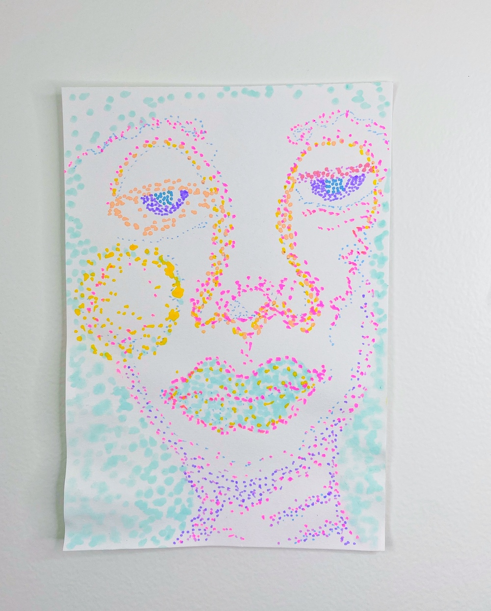 montie, Is this like a Noxzema commercial or what #2, acrylic paint pen on paper