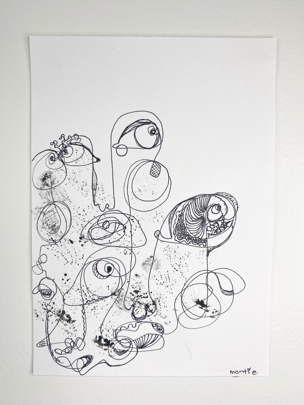 montie, lucid dream of dream of dreams, pen and ink