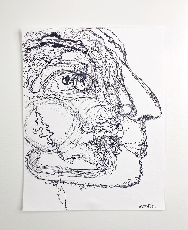 montie, Roberta, pen and ink