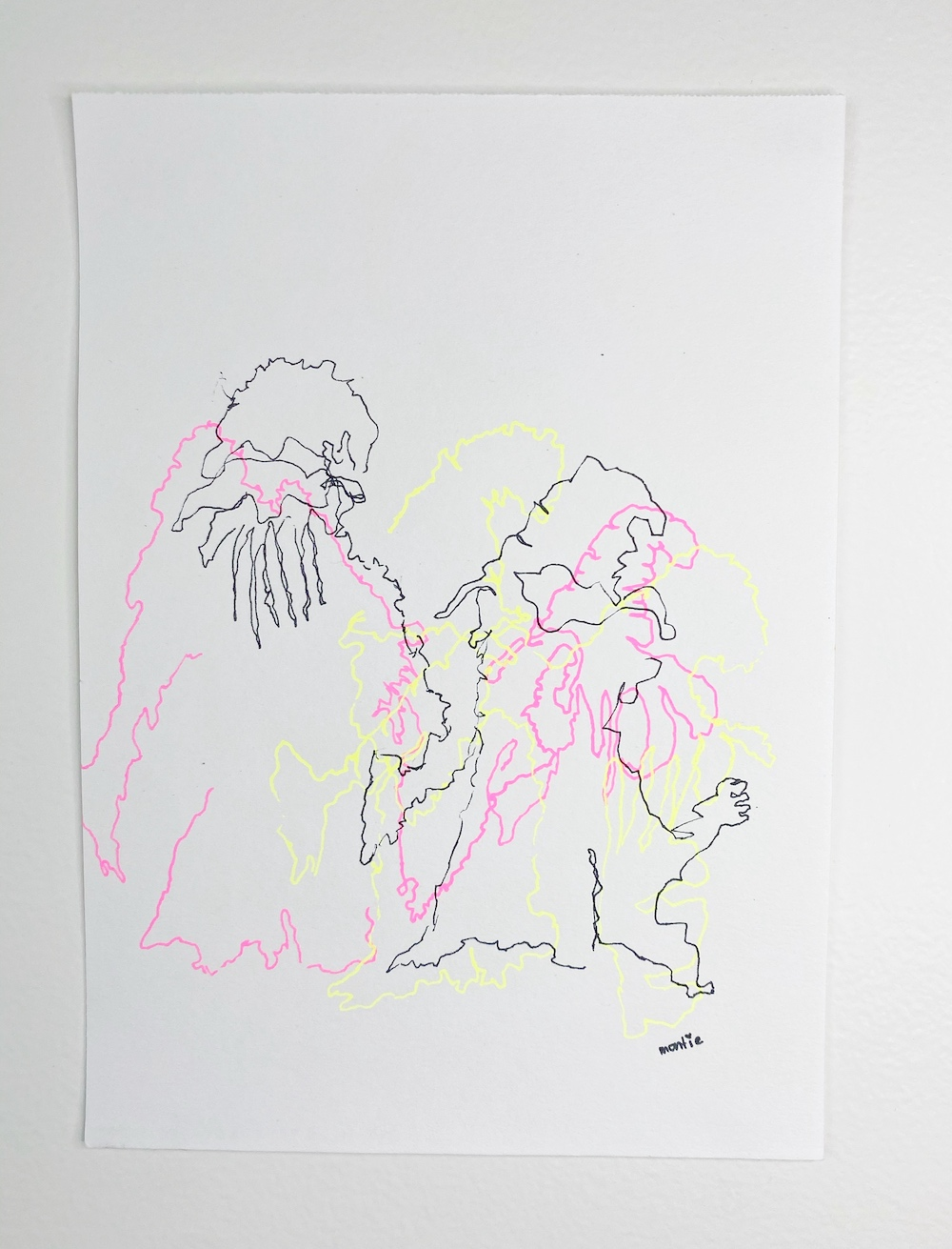 montie, The Craft, pen and ink