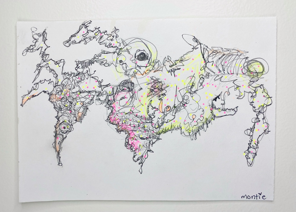 montie, Unica's World, pen and ink