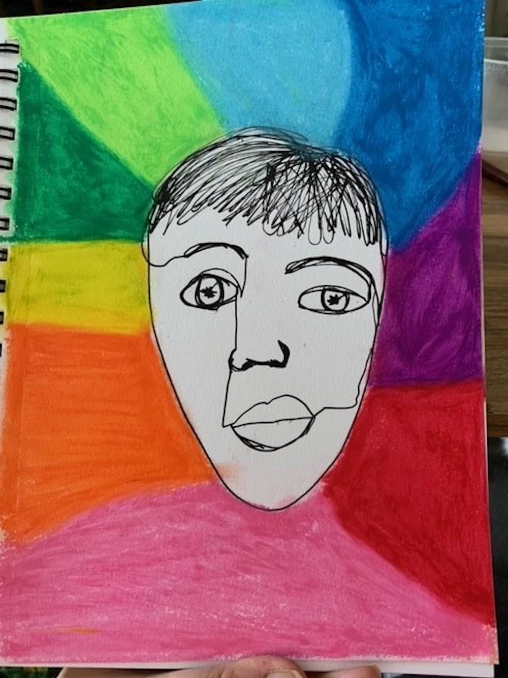 Laura Church, Studying Agnes Martin, Contour, graphite
