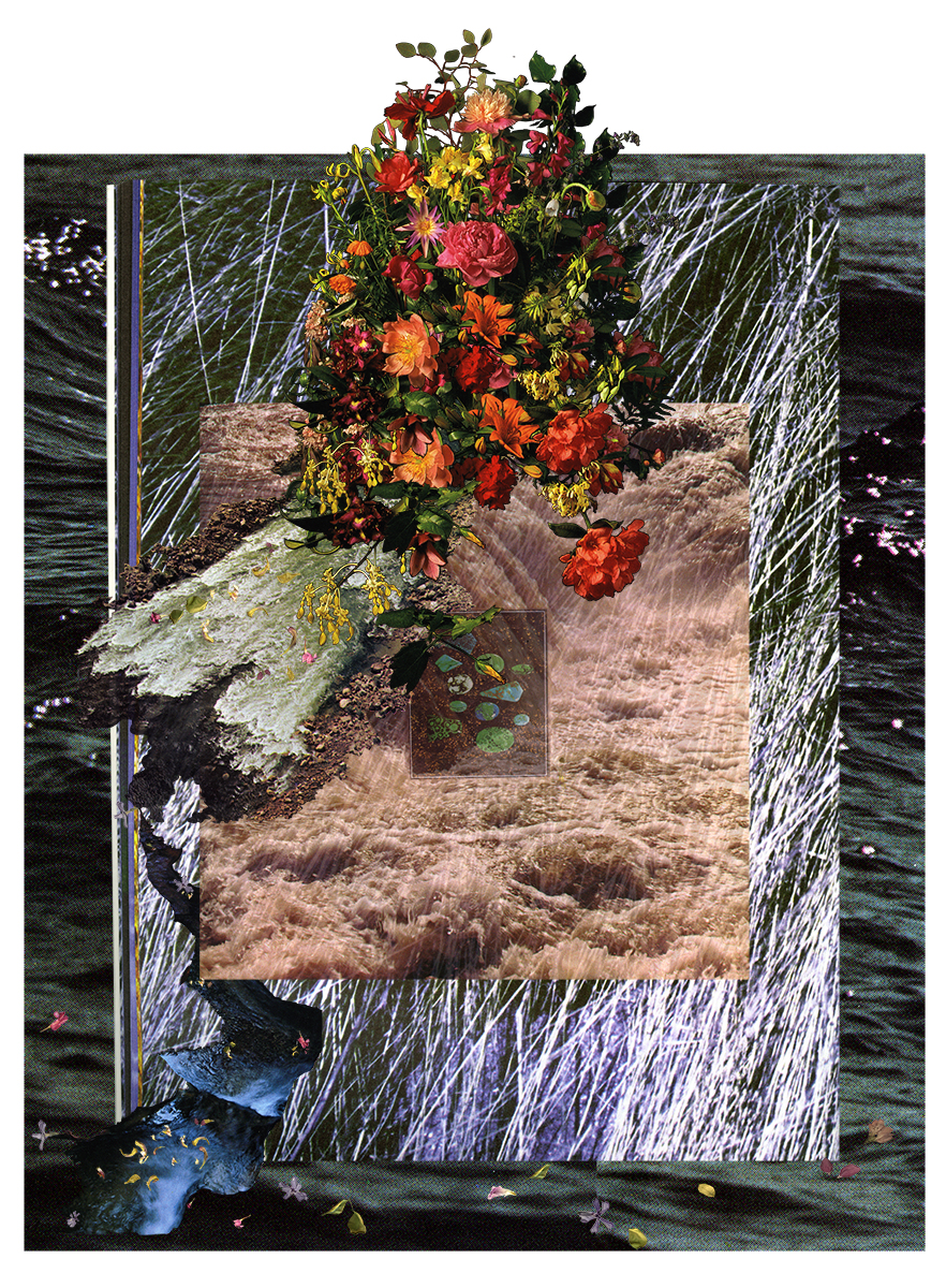 Laura Kay Keeling/ When It Gets Dark I Have Shallow Breath (tears) /Digital collage / 2021